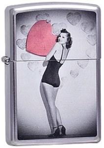 Широкая зажигалка Zippo Valentine Girl 237 - фото 5382