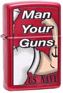 Широкая зажигалка Zippo Man&Gun 20063 - фото 5398