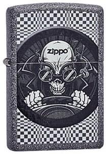 Широкая зажигалка Zippo Skull racer 211 - фото 5422