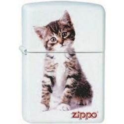 Широкая зажигалка Zippo Kitten sitting 214 - фото 5436