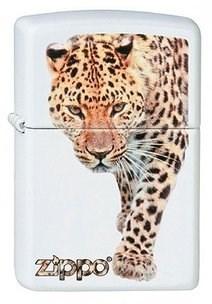 Широкая зажигалка Zippo Leopard 214 - фото 5438