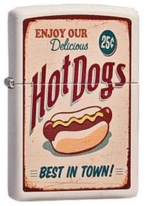 Широкая зажигалка Zippo Hot Dog 216 - фото 5454
