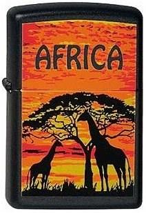 Широкая зажигалка Zippo Africa-G 218 - фото 5458