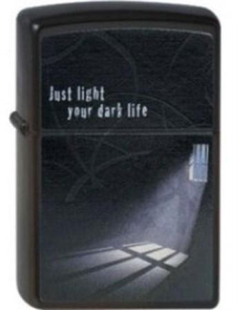 Широкая зажигалка Zippo Just Light 218 - фото 5486