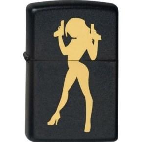 Широкая зажигалка Zippo Lady&Guns 218 - фото 5488