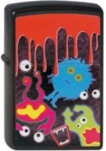 Широкая зажигалка Zippo Monster blood 218 - фото 5492