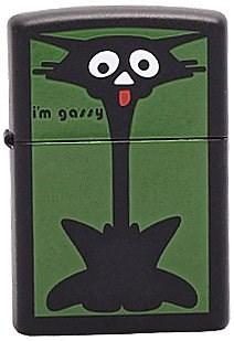 Широкая зажигалка Zippo Scaredy Cat 218 - фото 5502