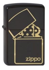 Широкая зажигалка Zippo ZIPPO logo 218 - фото 5520