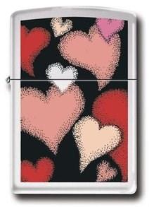 Широкая зажигалка Zippo Colors of love 24243 - фото 5550