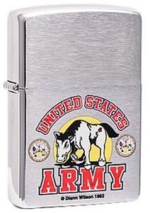 Широкая зажигалка Zippo US Army 24530 - фото 5606