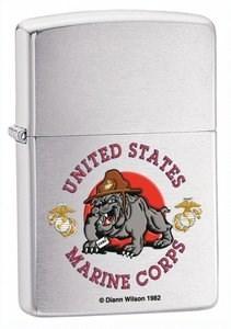 Широкая зажигалка Zippo US Marine 24532 - фото 5610