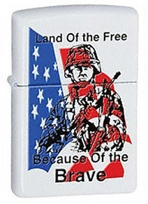 Широкая зажигалка Zippo Land of the free 24739 - фото 5632