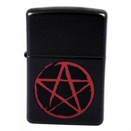 Широкая зажигалка Zippo Pentagram 24889 - фото 5654
