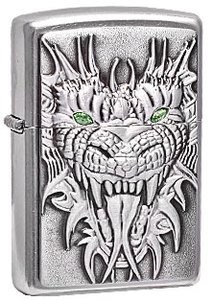 Широкая зажигалка Zippo Dragon 24901 - фото 5660
