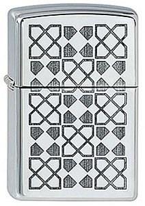 Широкая зажигалка Zippo Art Deco 4 254 - фото 5700