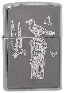 Широкая зажигалка Zippo Birds 255 - фото 5702