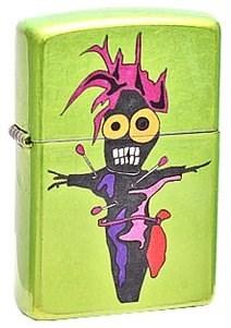 Широкая зажигалка Zippo Voodoo 28034 - фото 5850
