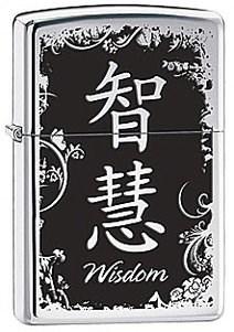 Широкая зажигалка Zippo Wisdom 28066 - фото 5862