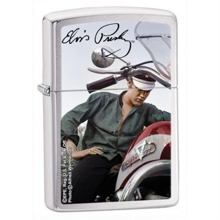 Широкая зажигалка Zippo Elvis 28074 - фото 5866