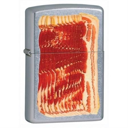 Широкая зажигалка Zippo Bacon 28130 - фото 5874