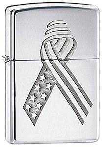Широкая зажигалка Zippo Ribbon 28367 - фото 5908