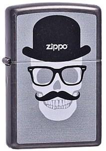 Широкая зажигалка Zippo Funny Skull 27378 - фото 5912