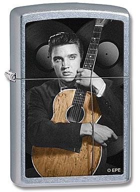 Широкая зажигалка Zippo Elvis 28431 - фото 5918
