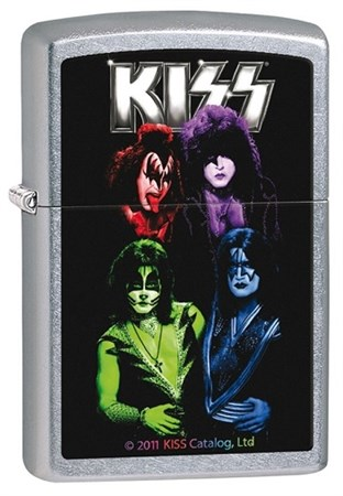 Широкая зажигалка Zippo Kiss 28473 - фото 5934