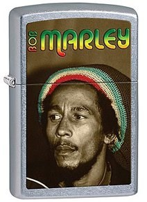 Широкая зажигалка Zippo Bob Marley 28488 - фото 5940