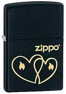 Широкая зажигалка Zippo Hearts 28552 - фото 5950