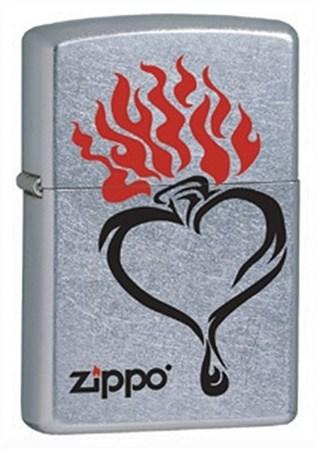 Широкая зажигалка Zippo Heart 28576 - фото 5964