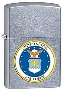 Широкая зажигалка Zippo USAF 28621 - фото 5968