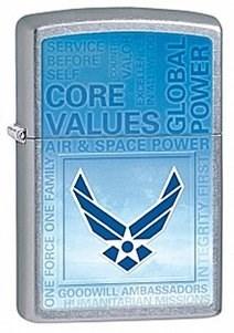Широкая зажигалка Zippo USAF 28622 - фото 5970