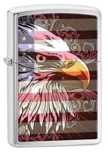Широкая зажигалка Zippo Eagle flag 28652 - фото 5978