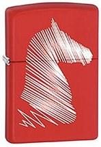 Широкая зажигалка Zippo Horse head 28724 - фото 6010