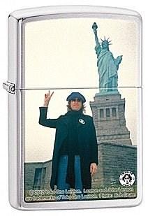 Широкая зажигалка Zippo John Lennon 28730 - фото 6014