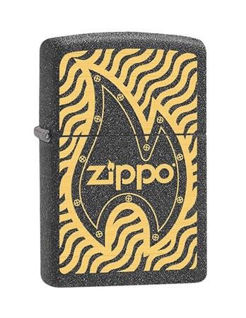 Широкая зажигалка Zippo Metal 28759 - фото 6016