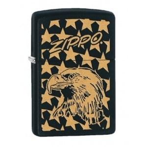 Широкая зажигалка Zippo Eagle&stars 28763 - фото 6018