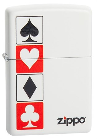Широкая зажигалка Zippo Card suits 28769 - фото 6028