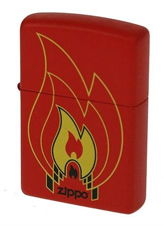 Широкая зажигалка Zippo Flames 28774 - фото 6034