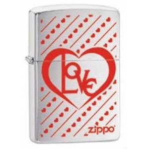 Широкая зажигалка Zippo Love 28781 - фото 6036