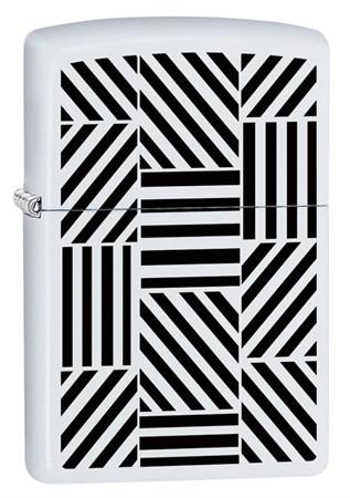 Широкая зажигалка Zippo Abstract 214 - фото 6052