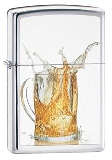 Широкая зажигалка Zippo Beer 28293 - фото 6058