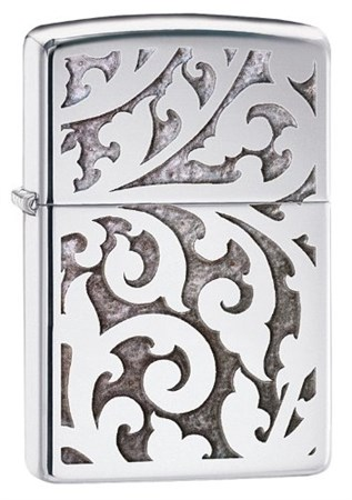 Зажигалка Zippo High Polish Chrome Filigree 28530 - фото 6083