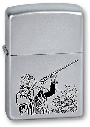 Широкая зажигалка Zippo Hunter 205 - фото 6086