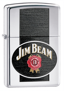 Широкая зажигалка Zippo Jim Beam 28071 - фото 6090