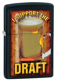 Широкая зажигалка Zippo Support The Draft 28294 - фото 6111