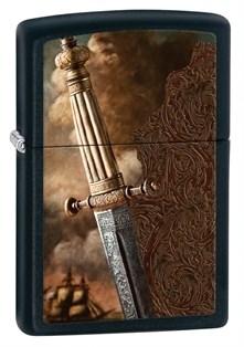 Широкая зажигалка Zippo Sword Of War 28305 - фото 6112