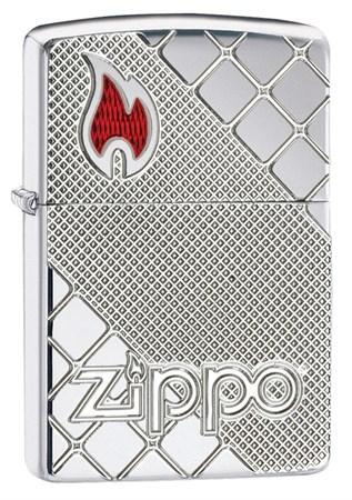 Широкая зажигалка Zippo Armor 29098 - фото 6151