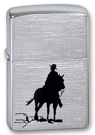 Широкая зажигалка Zippo 200 Bronco Cowboy - фото 6166